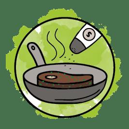 BBQ Rub - dieses Bild zeigt den dritten Anwendungsschritt unserer Rubs, das Fleisch soll noch nach Geschmack gesalzt werden