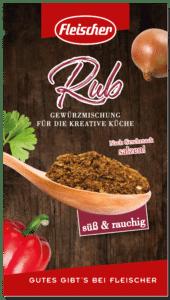 BBQ Rub - dieses Bild zeigt die Verpackung der Rub Sorte süß & rauchig