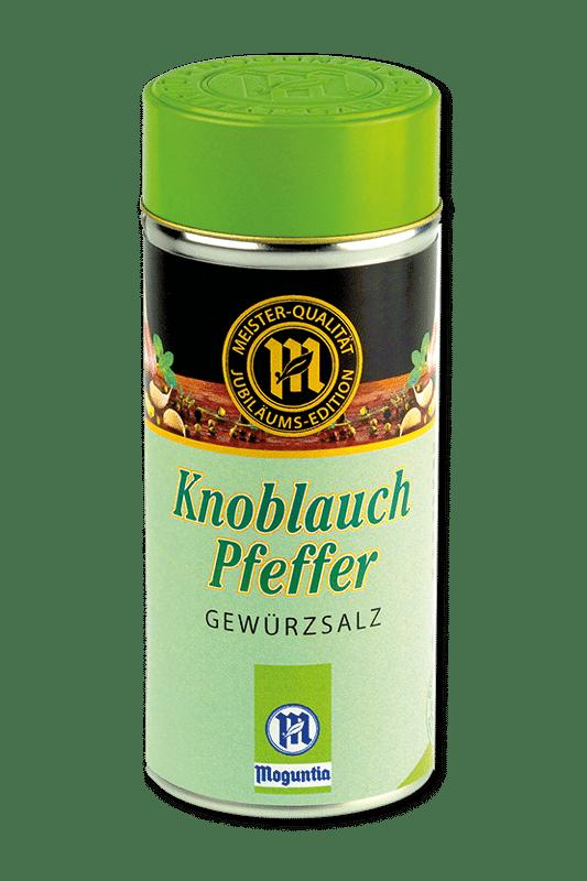 Knoblauch-Pfeffer: Dieses Bild zeigt den Gewürzstreuer Knoblauch-Pfeffer der MOGUNTIA FOOD GROUP