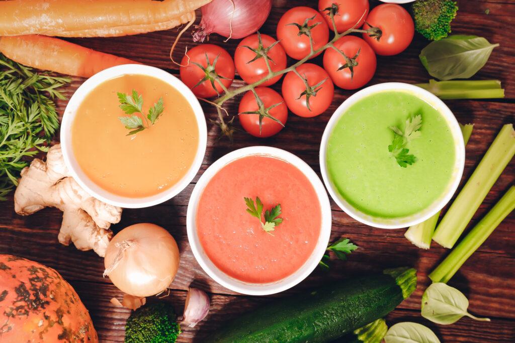 Suppen: dieses Bild zeigt gebundene Suppen