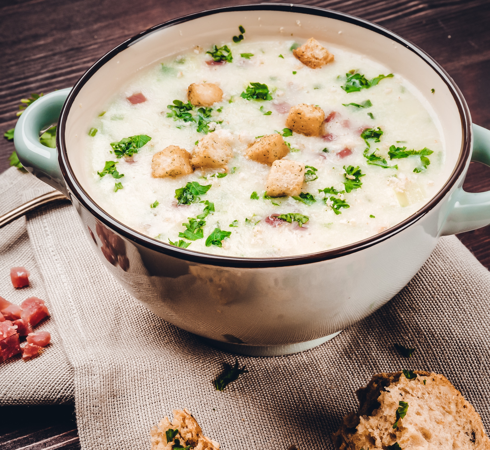Suppen - dieses Bild zeigt eine Kartoffel Suppe