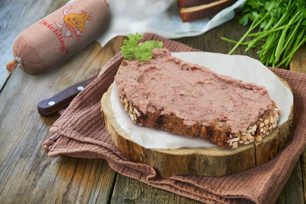 Leberwurst-Gewürze: dieses Bild zeigt ein Brot, was mit unserer ZWIEBLING® Leberwurst