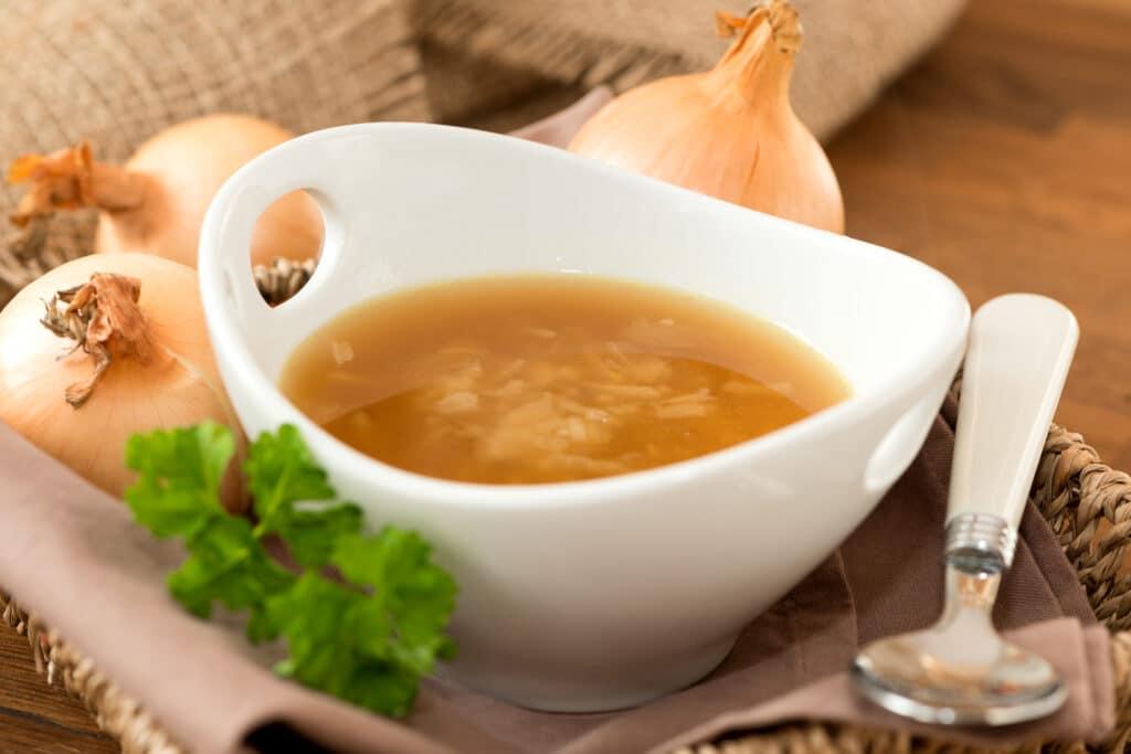 Suppen Hersteller - dieses Bild zeigt eine Zwiebelsuppe