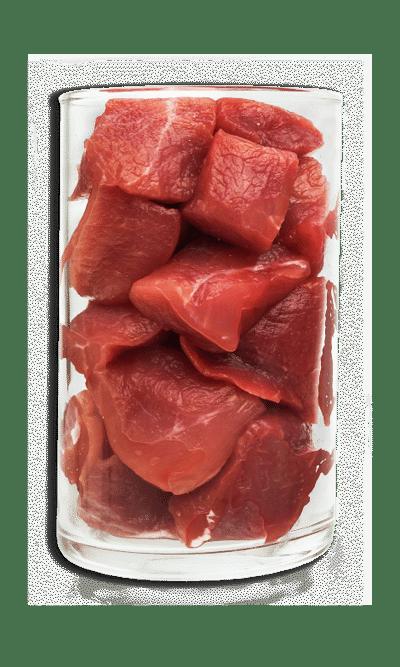 Fleischzartmacher: dieses Bild zeigt Fleisch, welches mit Fleischzartmacher behandelt wurde
