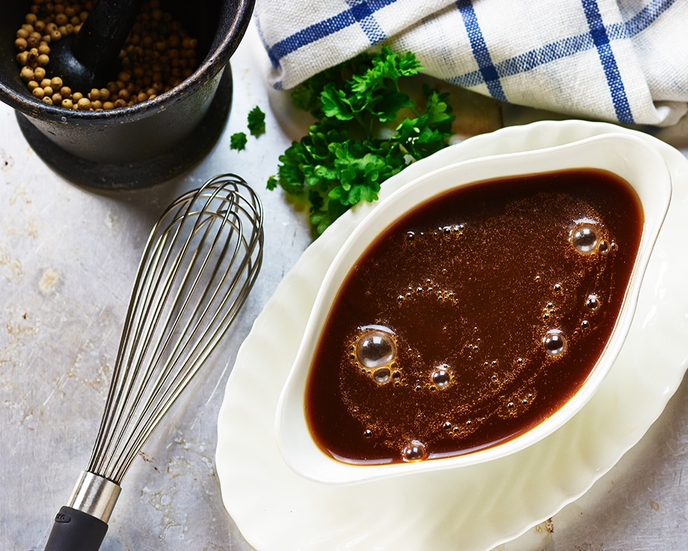 Salzreduzierte Kost: dieses Bild zeigt eine Gemüse-Bouillon